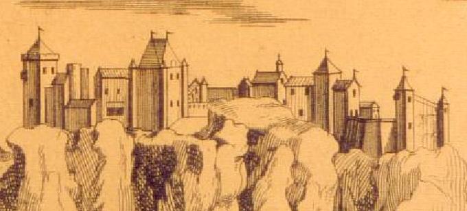 croquis du château de Miolans