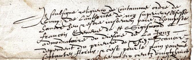 Quittance manuscrite datée de 1629 : le français est d'usage pour les documents écrits en Savoie. © 123 Savoie