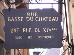 Rue Basse du Château à Chambery