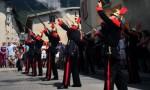 Feu de parade des pompiers - © OT Aussois
