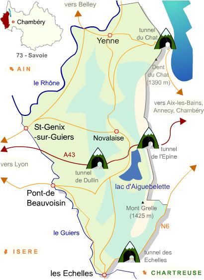 carte de l'Avant-Pays-Savoyard