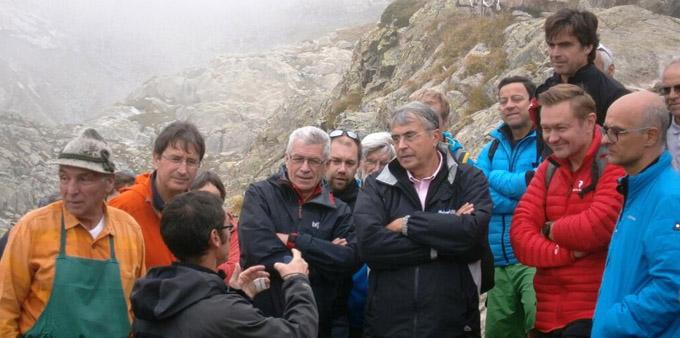 Inauguration de la Pico-centrale du Lac Blanc en présence de Jean-Jack Queyranne, Président de la Région Rhône-Alpes - © ERDF