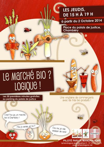 Affiche 1er marché biologique de Savoie à Chambéry