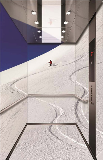 Maquette de la future cabine de l'Aiguille du Midi