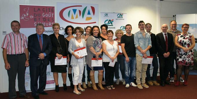Remise diplômes ADEA et BTM Pâtissier le 17 octobre 2014 à la Chambre de Métiers et de l'Artisanat de la Savoie
