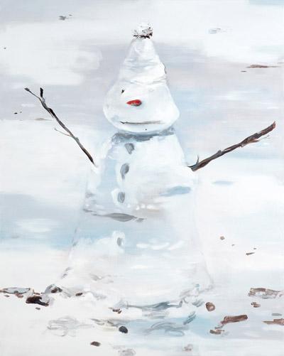 Snowman, 2013 - Huile sur toile, 161 x 130 cm - Collection de l'artiste
