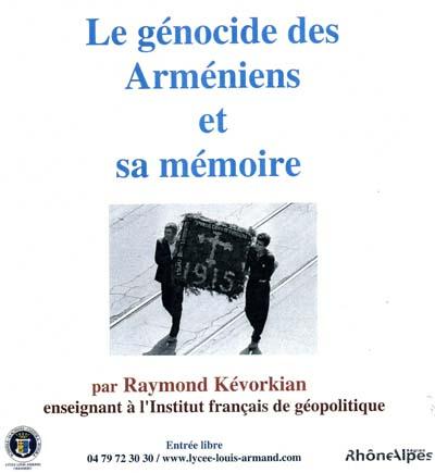 Affiche Arménie - Conférence Kévorkian