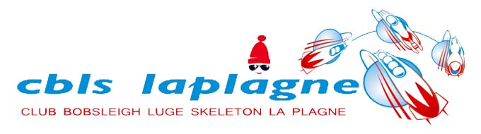 Logo Club de Bobsleigh Luge Skeleton la Plagne
