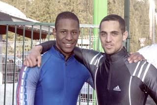 Wesley Tancelin et Simon Baudouin