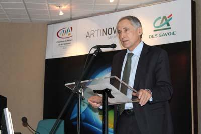 Jean-Yves Barnavon, Directeur général du Crédit Agricole des Savoie - © Sergio Palumbo - 123 Savoie
