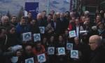 Photo avec les labellisés, aux Arcs le 13 décembre 2014