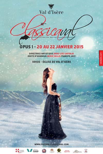 Affiche Festival Classicaval 1er Opus janvier 2015