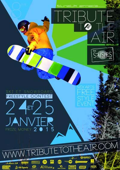 Affiche Le Tribute to the Air des Saisies 2015