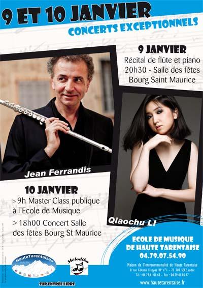Affiche Récital de piano et de flûte en Haute Tarentaise