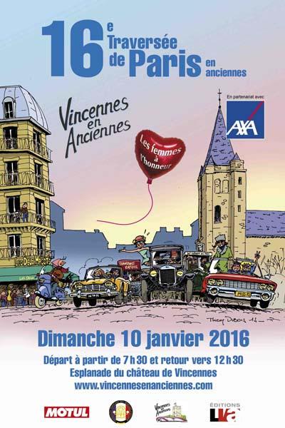 Affiche Traversée de Paris en anciennes 2016