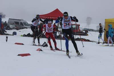 Anouk Faivre Picon, Aurélie Dabudyk et Marion Buillet en finale du sprint à Morbier