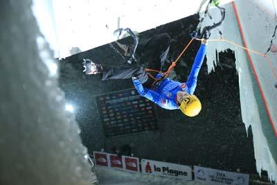 Escalade sur glace à © Monica Dalmasso