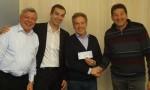 Ulrich Schmidt, Président d'honneur Réseau Entreprendre® Haute-Savoie, Jean-Sébastien Lanvin-Lespiau, David Malfait et Christian Fath