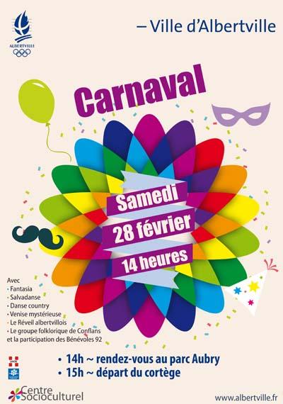 Affiche Carnaval 2015 d'Albertville