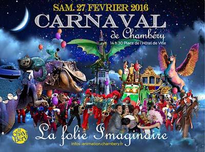 Affiche Carnaval 2016 Chambéry