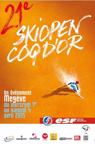 Affiche Ski Open Coq d'Or 2015
