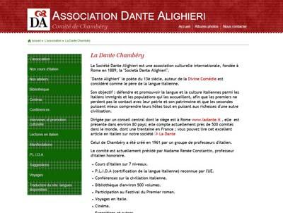 La Société Dante Alighieri Chambéry