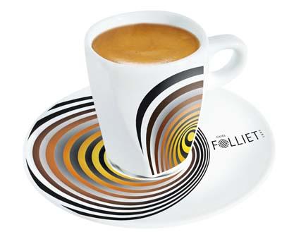Les Cafés Folliet tasse Elliptik