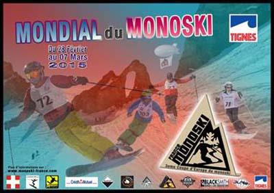 Mondial du monoski à Tignes