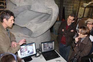 Un des Eléphants scanné à la Fonderie Vincent - © Sergio Palumbo - 123 Savoie