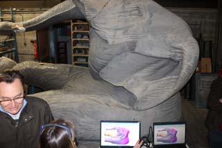 Un des Eléphants scanné à la Fonderie Vincent 1 - © Sergio Palumbo - 123 Savoie