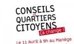 Affiche lancement des conseils de quartiers citoyens Chambéry