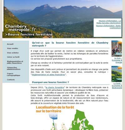 Bourse foncière forestière de Chambéry métropole