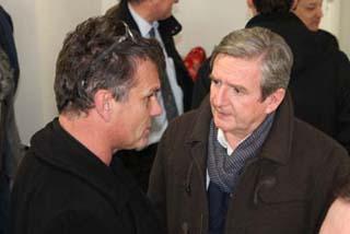 Christian Patey, architecte et Xavier Dullin, Président de Chambéry métropole