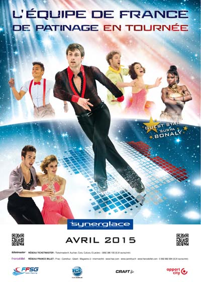 Affiche Tournée Equipe de France patinage