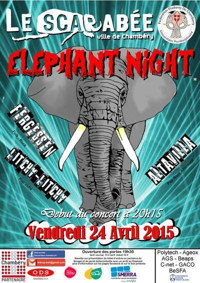 Eléphant Night au Scarabée
