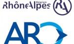 Logos Région Rhône-Alpes et Arc Syndicat Mixte