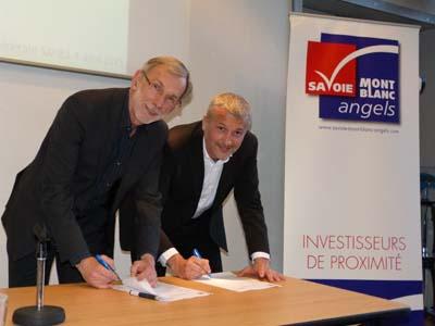 Partenariat Savoie Mont Blanc Angels et Digital Savoie