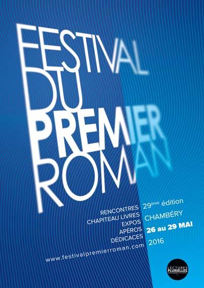 Affiche 2016 Festival du premier roman de Chambéry