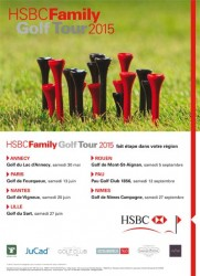 Affiche HSBC Family Golf Tour 2015
