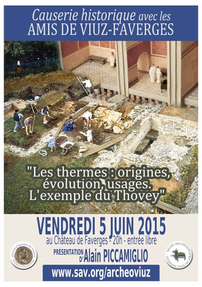 Affiche Les thermes : origines, évolution, usages. L'exemple du Thovey