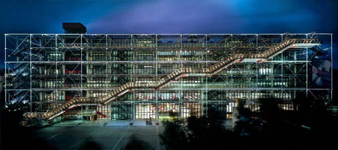 Le centre Pompidou de nuit - © Musée national d'Art moderne