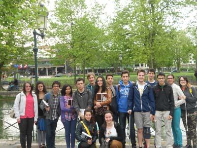 les élèves du Lycée scientifique Binel-Viglino de Pont-Saint-Martin 1