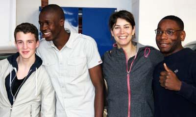 Sandrine Aubert et des étudiants