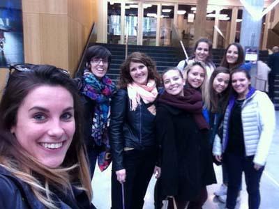 Les élèves du Lycée linguistique de Courmayeur