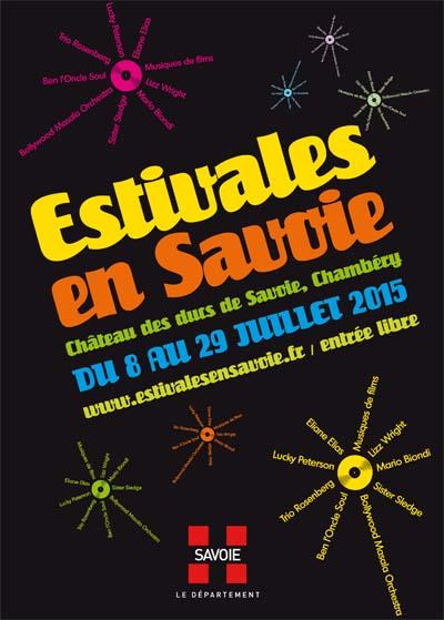 Affiche Estivales en Savoie 2015