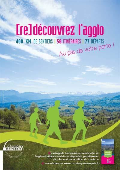 Affiche sentiers Chambéry métropole