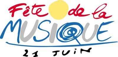 Logo Fête de la Musique réalisé par Michel Bouvet