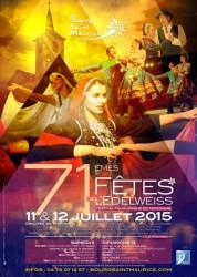 Affiche Fête de l'Edelweiss 2015