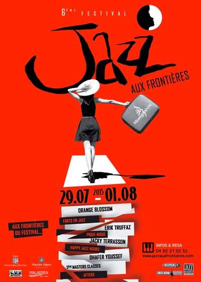Affiche Festival Jazz aux Frontières 2015 de Montgenèvre