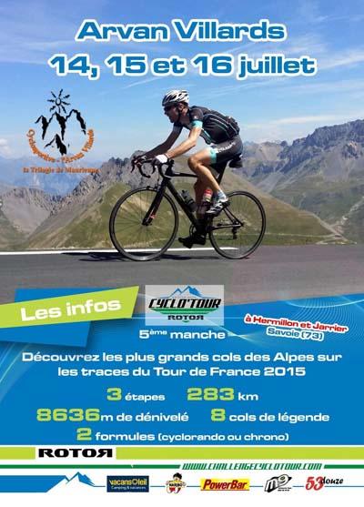 Affiche Le Tour Arvan Villards 2016